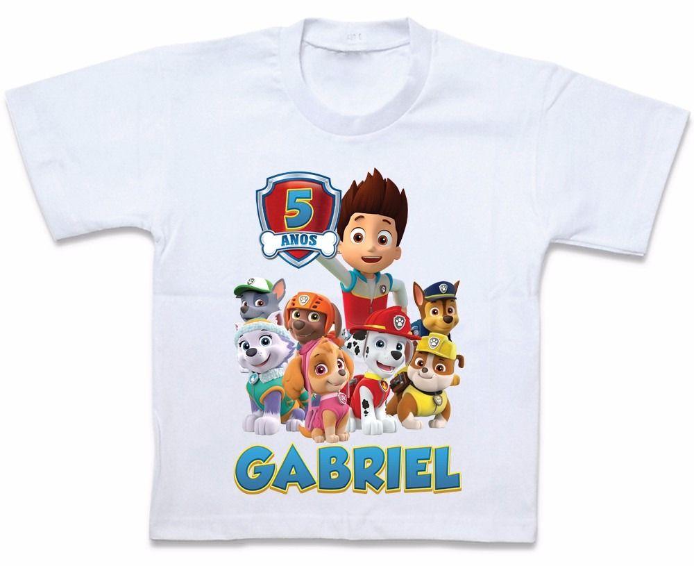 Camiseta Personalizada Patrulha Canina  b7d74bd9c8462