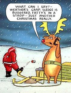 Funny Father Christmas Cartoons Santa Rudolph Crap
