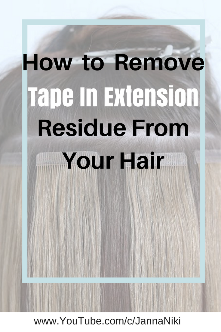 Video How To Remove Tape In Extension Residue And Glue From Your