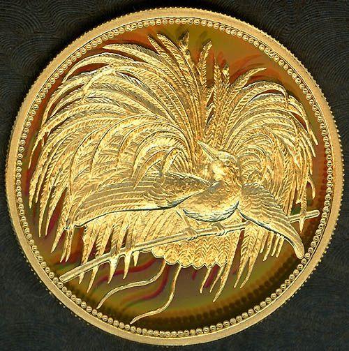 Papua New Guinea 50 Kina, Bird of Paradise gold coin