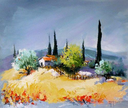 Mas provençal | AQUARELLES PROVENCE | Pinterest | Paysages ...