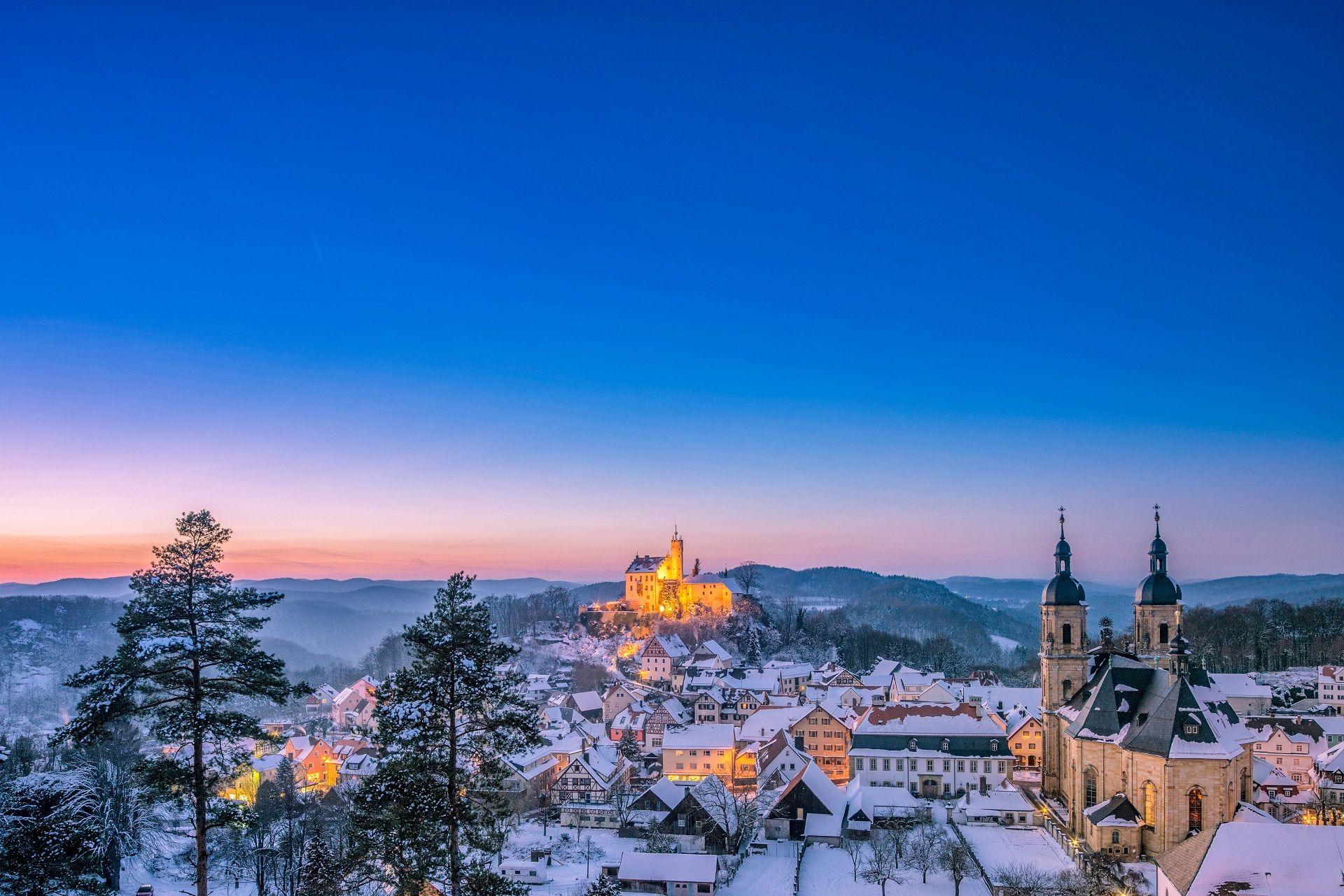 Urlaub in Franken Winter Gößweinstein