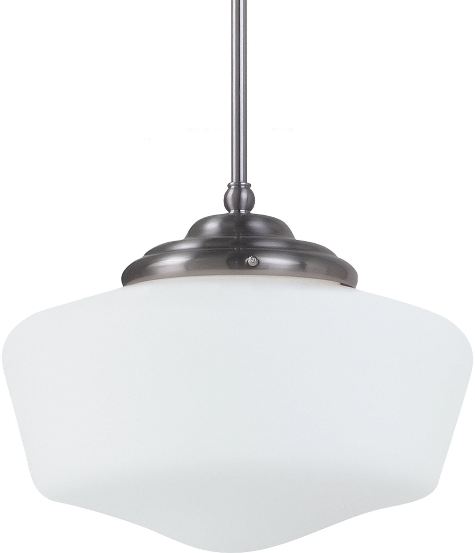 0-016466>Academy 1-Light Pendant Brushed Nickel
