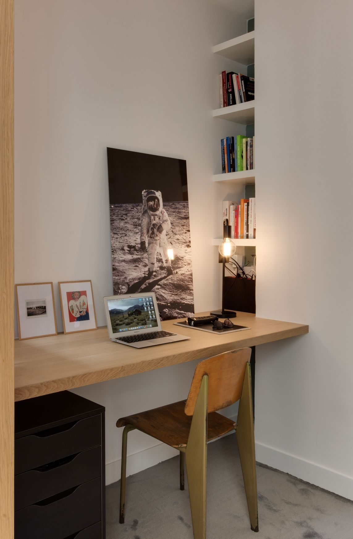 Coin bureau Appartement parisien de 75m2- GCG Architectes ...