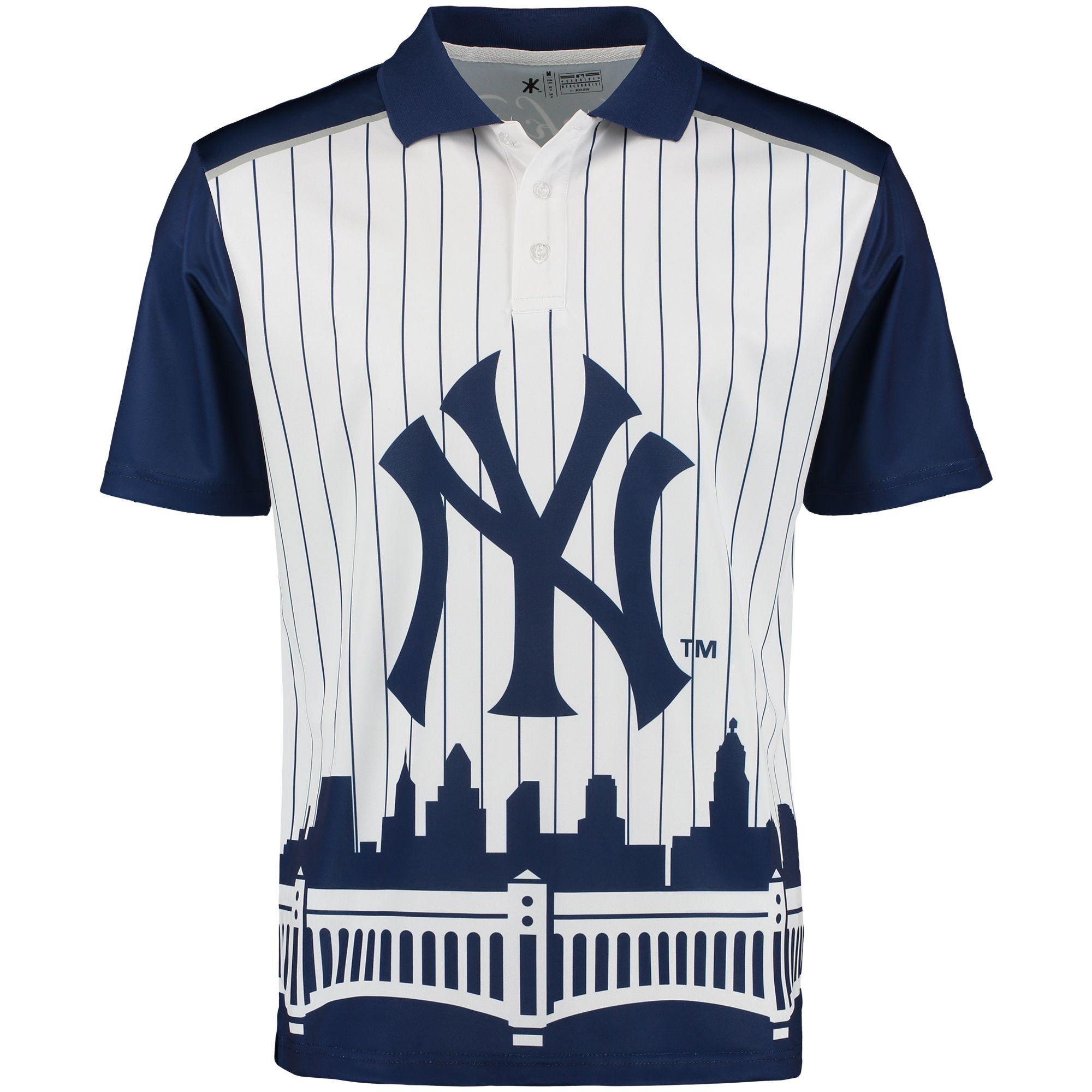 a1bd9058698 MLB New York Yankees Thematic Polo - White Navy