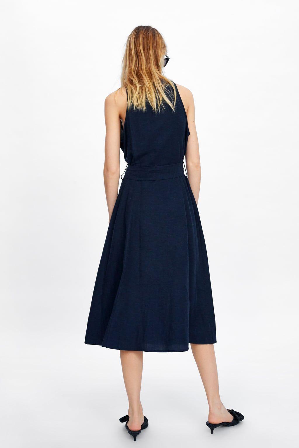 Dress With Pockets View All Dresses Woman Zara United Kingdom Dresses Womens Maxi Dresses Pocket Maxi Dress