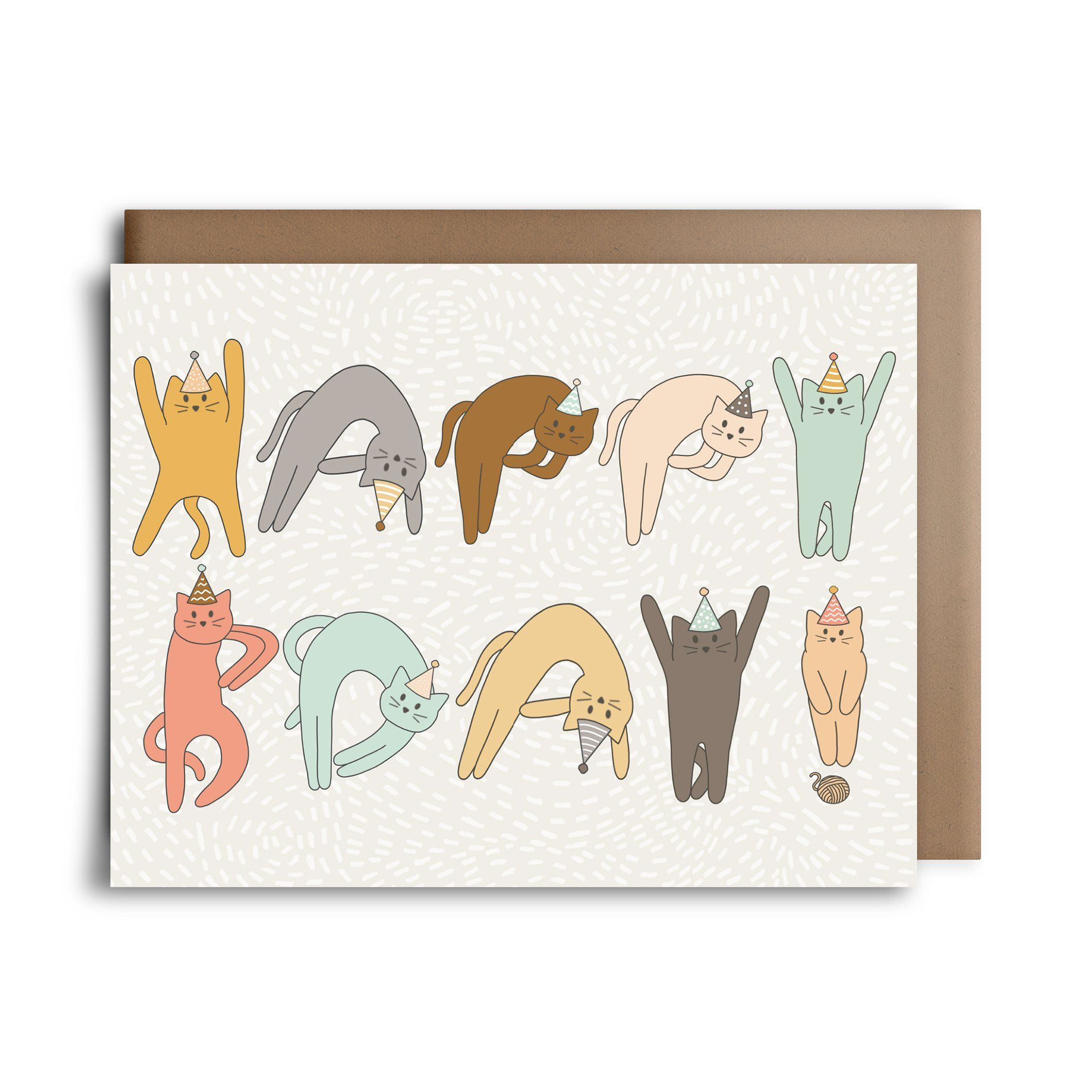 Happy Birthday Spelled Out In Cats This Makes For The Purrfect Cat Lovers Card