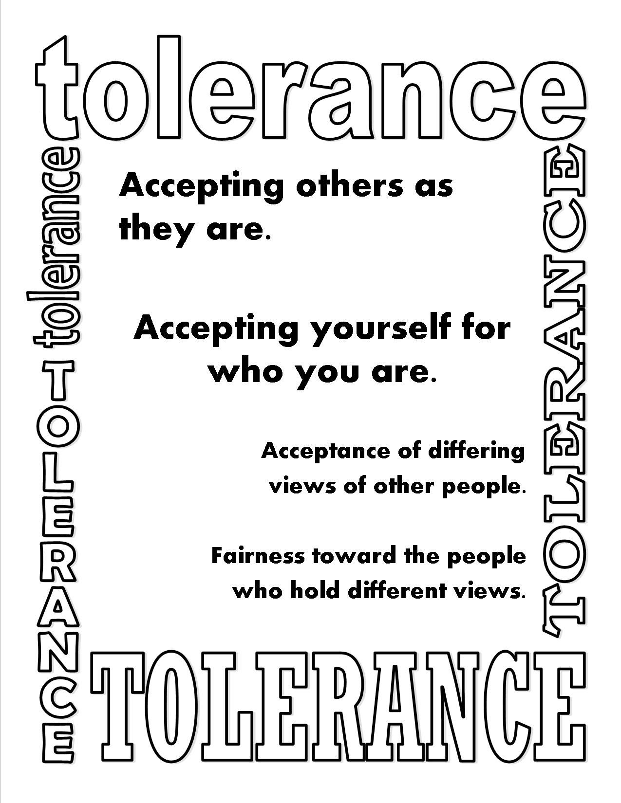 Tolerance Poster Lessons Worksheets And Activities