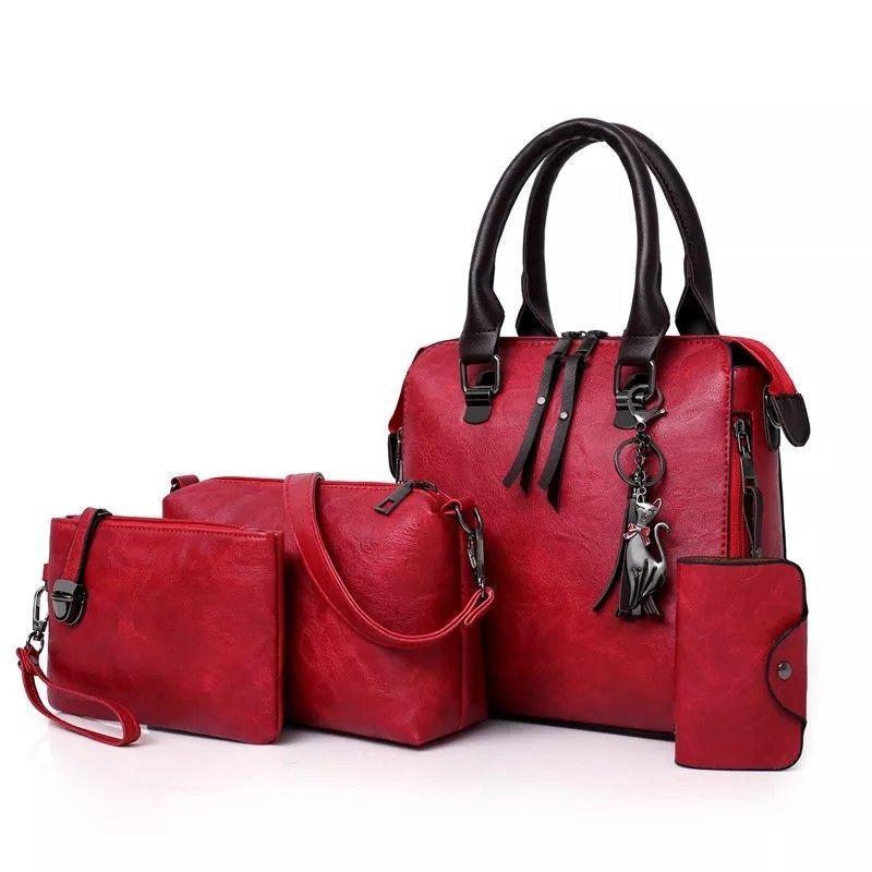 4pcs Women S Handbag Set Fashion