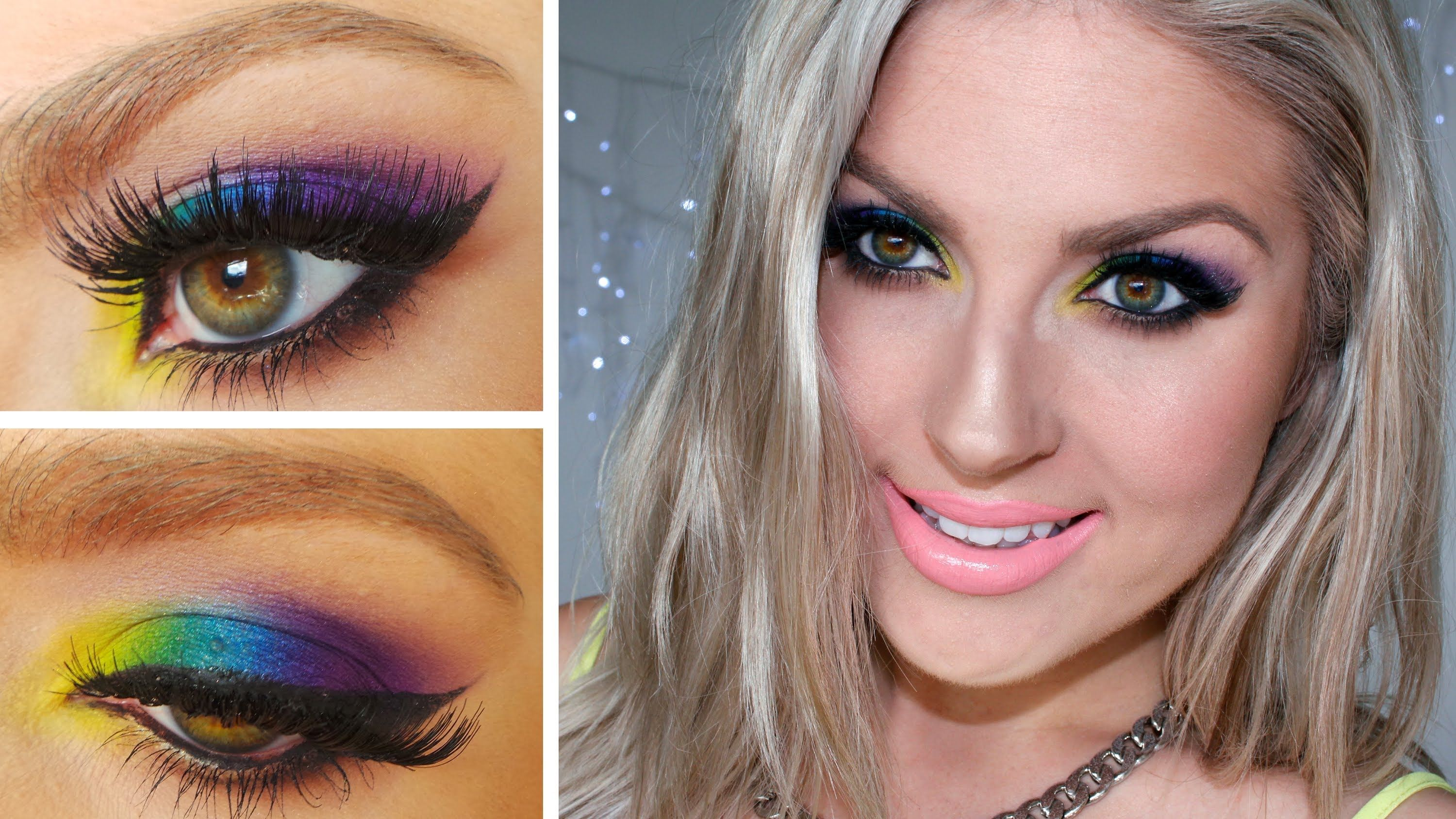 OBSESSED with this bright eye makeup look I created! And