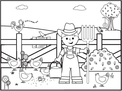 interesting little farm colouring pages page 3 - Farm Coloring Pages
