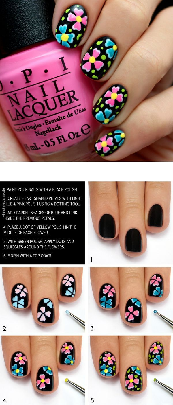 flower nails wundersch ne nagellack kunst n gel. Black Bedroom Furniture Sets. Home Design Ideas