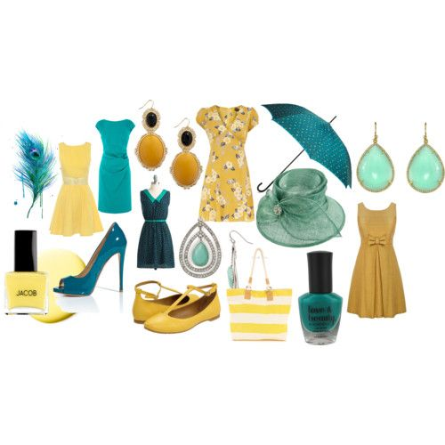 yum teal and yellow