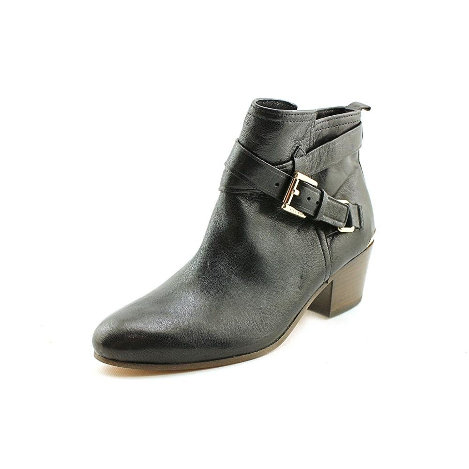 8898365a814 Coach Pauline Womens Size 8.5 Black Leather Fashion Ankle Boots ...
