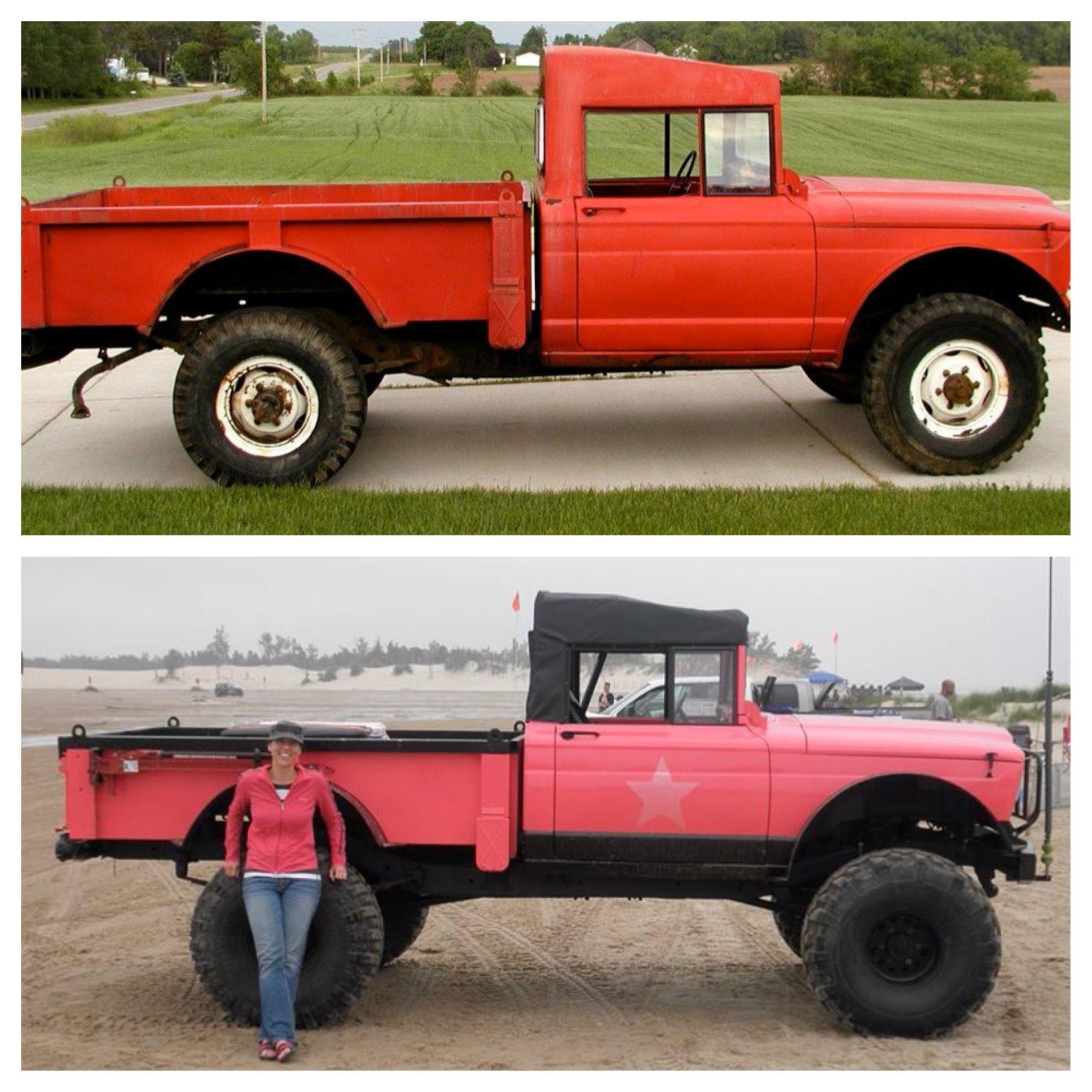 Going pink: A Kaiser Jeep M715 homegrown garage build.
