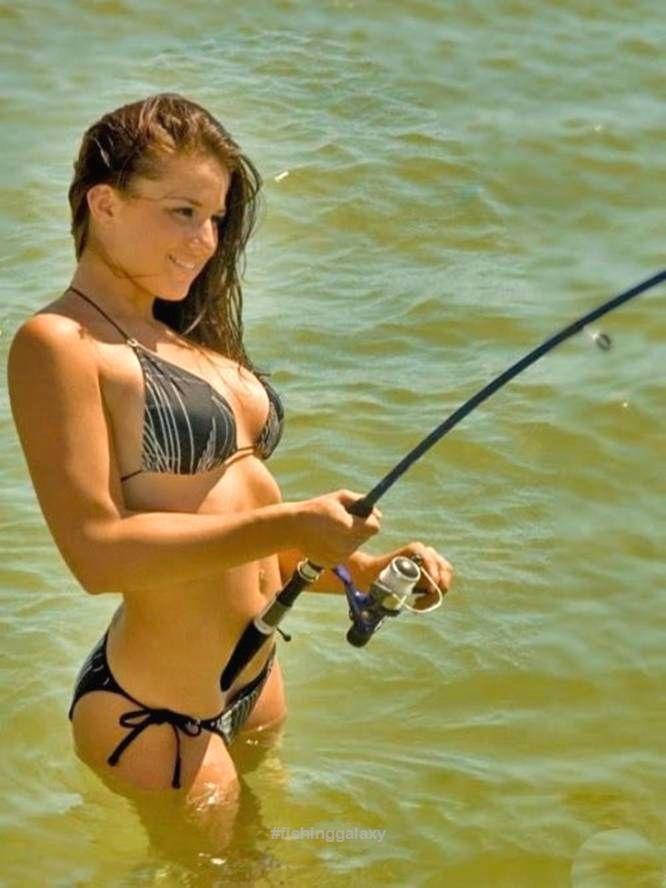 girls fishing Sexy fly