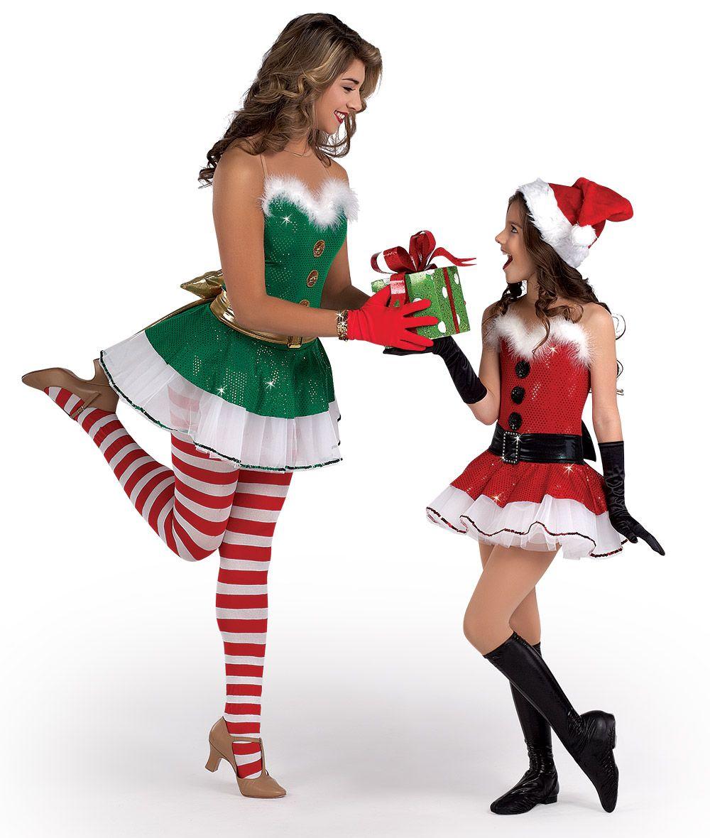 preteen in stockings H280 - Jingle Bells