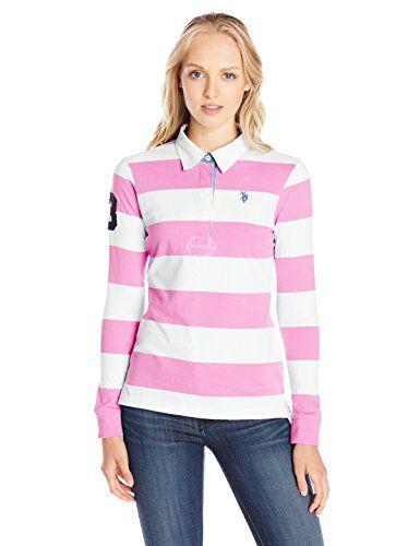 Polo Assn U.S Juniors Long-Sleeve Stripe and Sparkle Bling T-Shirt