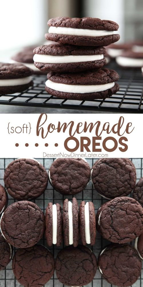 Homemade Oreos (like Oreo Cakesters) | Dessert Now