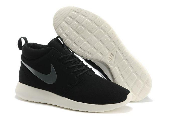 f0db29ccdb59 Nike Roshe Run High Cut Womens Shoes Black