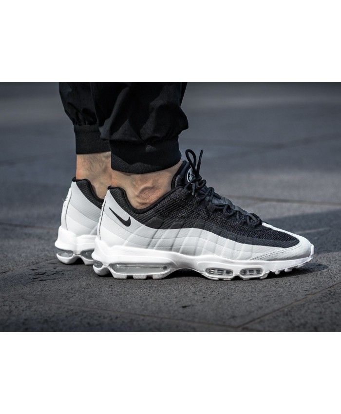 Nike Air Max 95 Ultra Essential Trainers In Black White in
