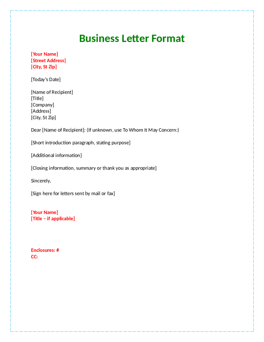 business letter format with attention line official part letters tnursetianti