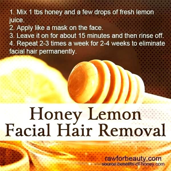 honey lemon facial hair removal........who thinks this would really work??? honey lemon facial hair