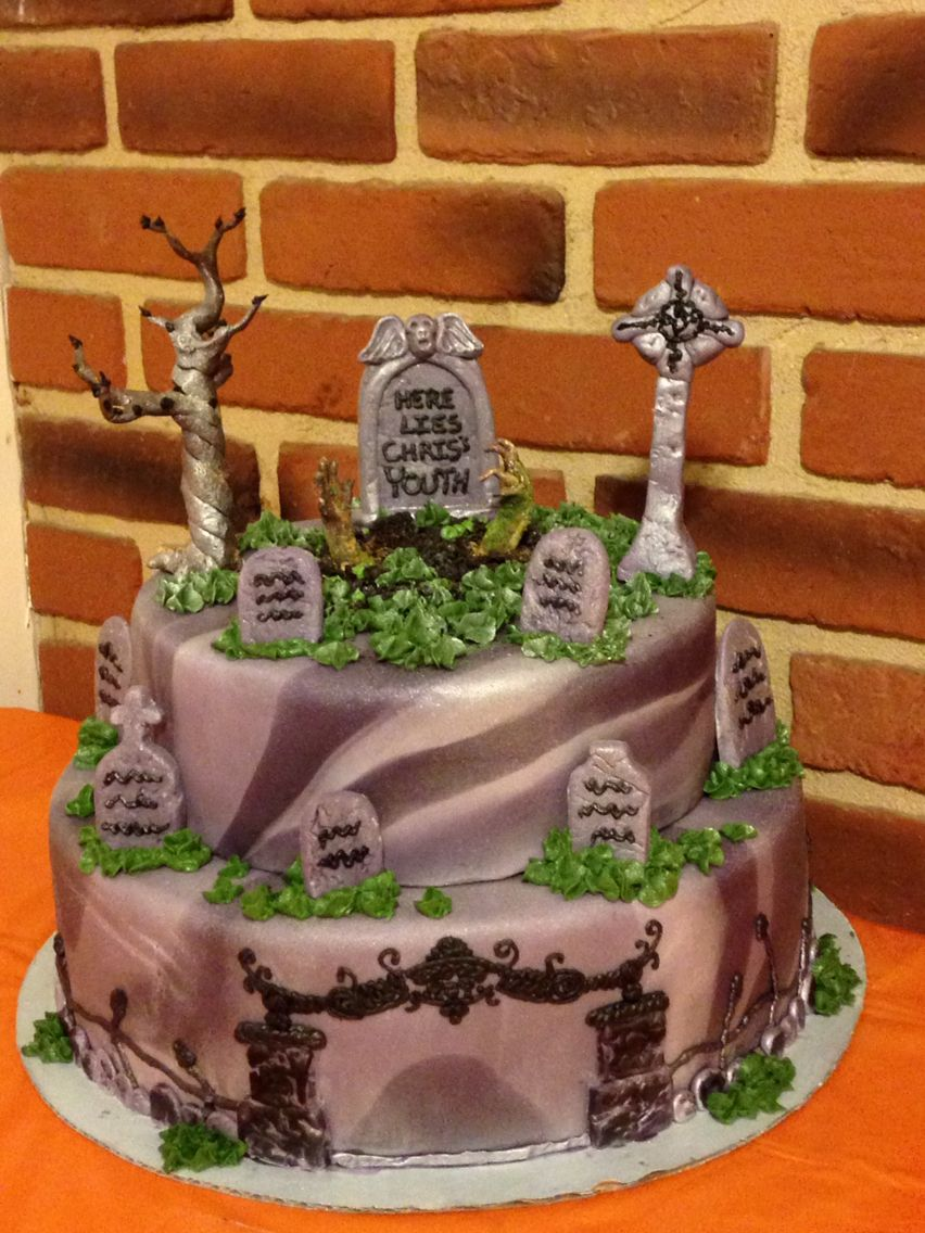 40th birthday/Halloween cake for my brother Liz\u0027s Cakes - Halloween Cake Decorating Ideas