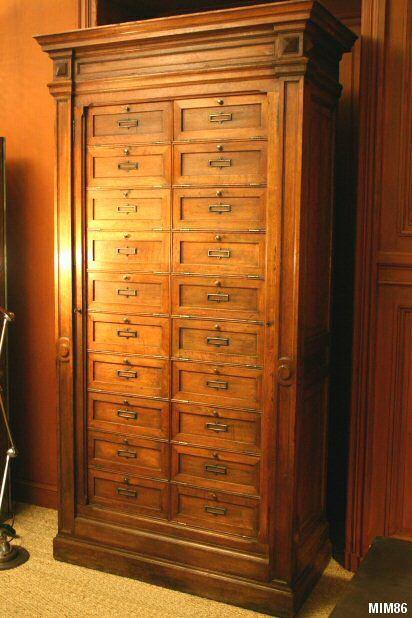 Meuble De Notaire Meuble A Tiroir Meuble De Metier Mobilier De Salon