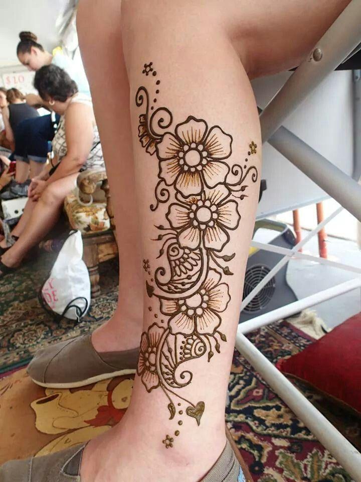 Henna Tattoo Small Ankle: Leg Henna Designs, Leg Henna, Henna