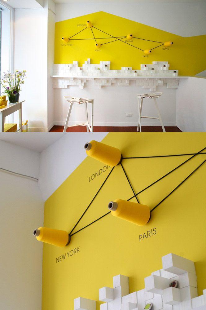 wandgestaltung in gelb | museen ausstellung | pinterest, Innenarchitektur ideen