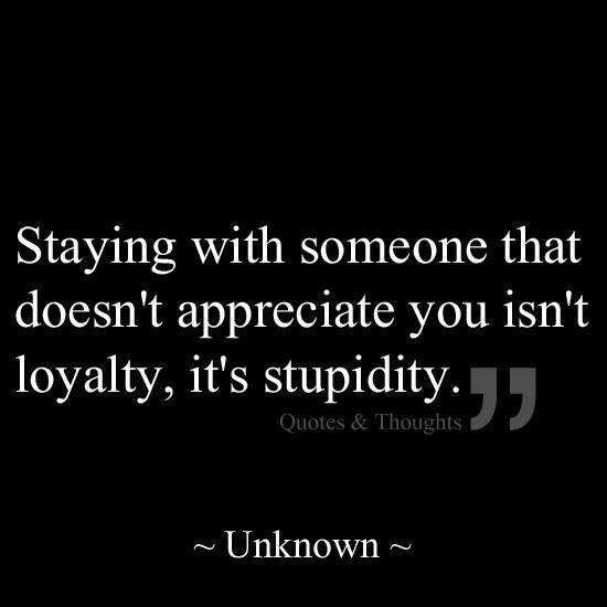 Loyal or just plain dumb?