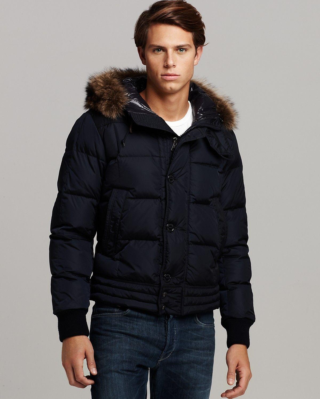 Moncler Jacket (Ribera, Fur Trimmed Hooded Parka, Men's