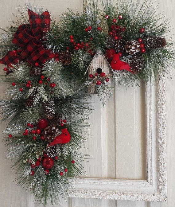 guirnalda de navidad marco por shabbybrookcottage en etsy - Guirnaldas De Navidad