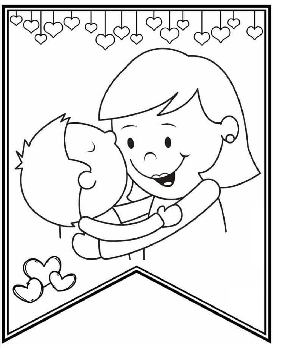 Tu Tarea San Valentin Dibujos Del Dia De Las Madres Dia De San Valentin Paginas Para Colorear