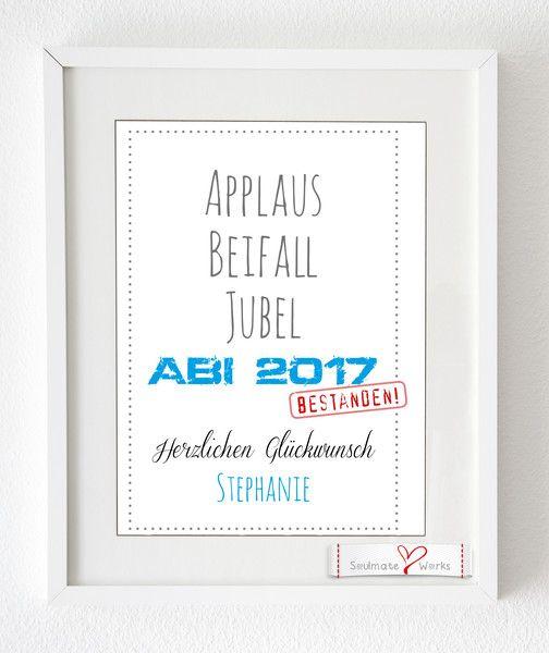 Digitaldruck   Kunstdruck/Glückwunsch Für Das Bestandene Abitur   Ein  Designerstück Von Soulmate Works