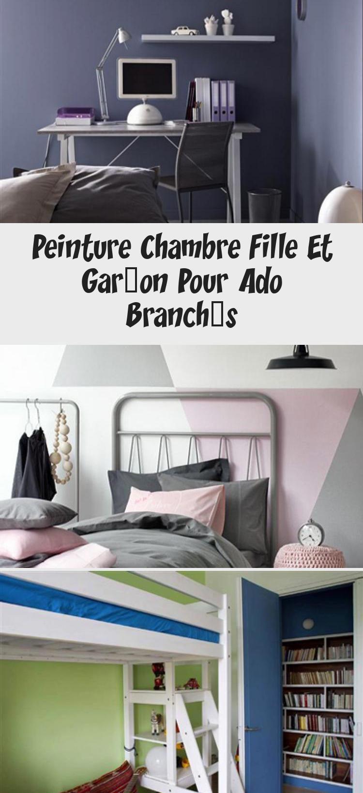 Peinture Chambre Fille Et Garcon Pour Ado Branches