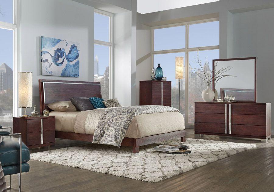 Venezia Espresso King Bed Affordable Bedroom Sets Bedroom Sets