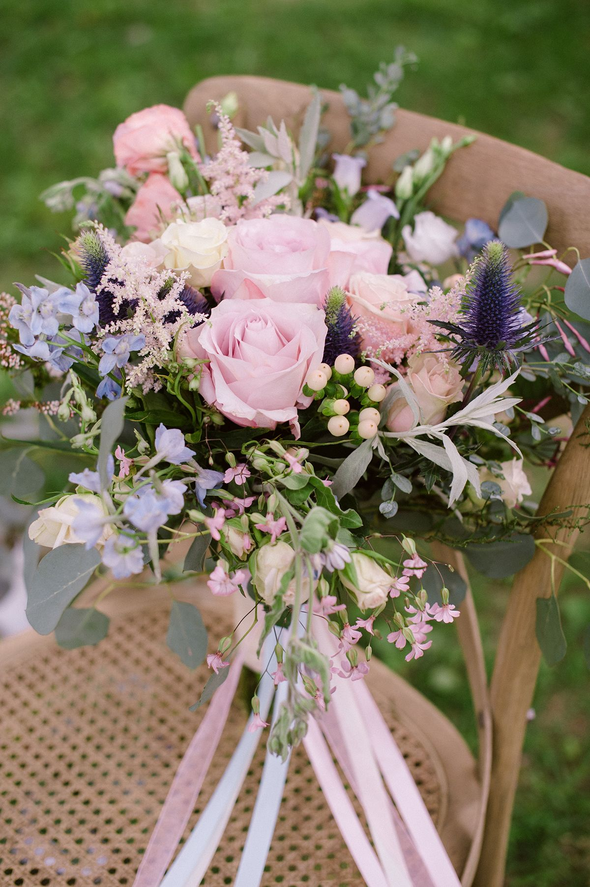 Pink And Blue Wedding Flowers Topsimages