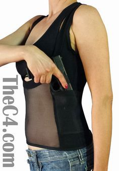 72e75dc4ee1dc Underbust Double Holster Top for Women - C4- The Concealed Carry Clothing  Company