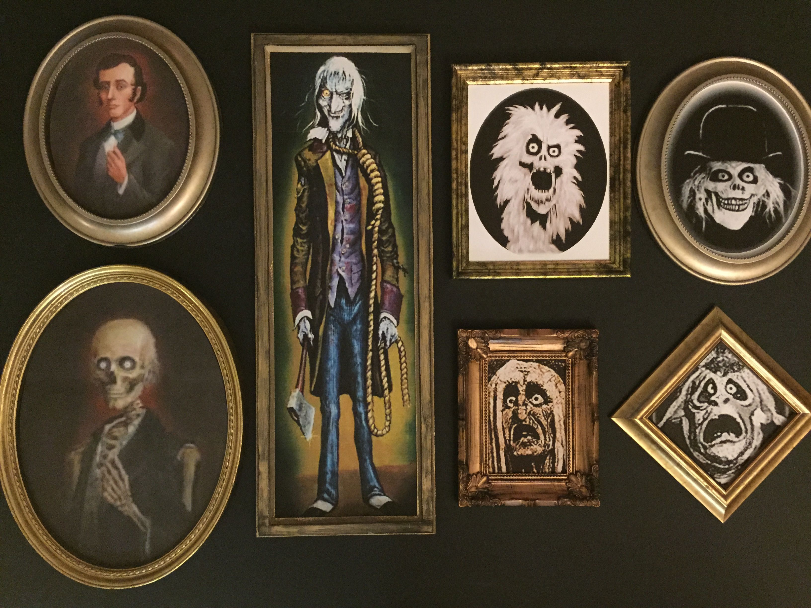 magalie sarnataros props haunted mansion haunted portraits my own props haunted mansion 2015 miscellaneous picture frames - Dollar Picture Frames