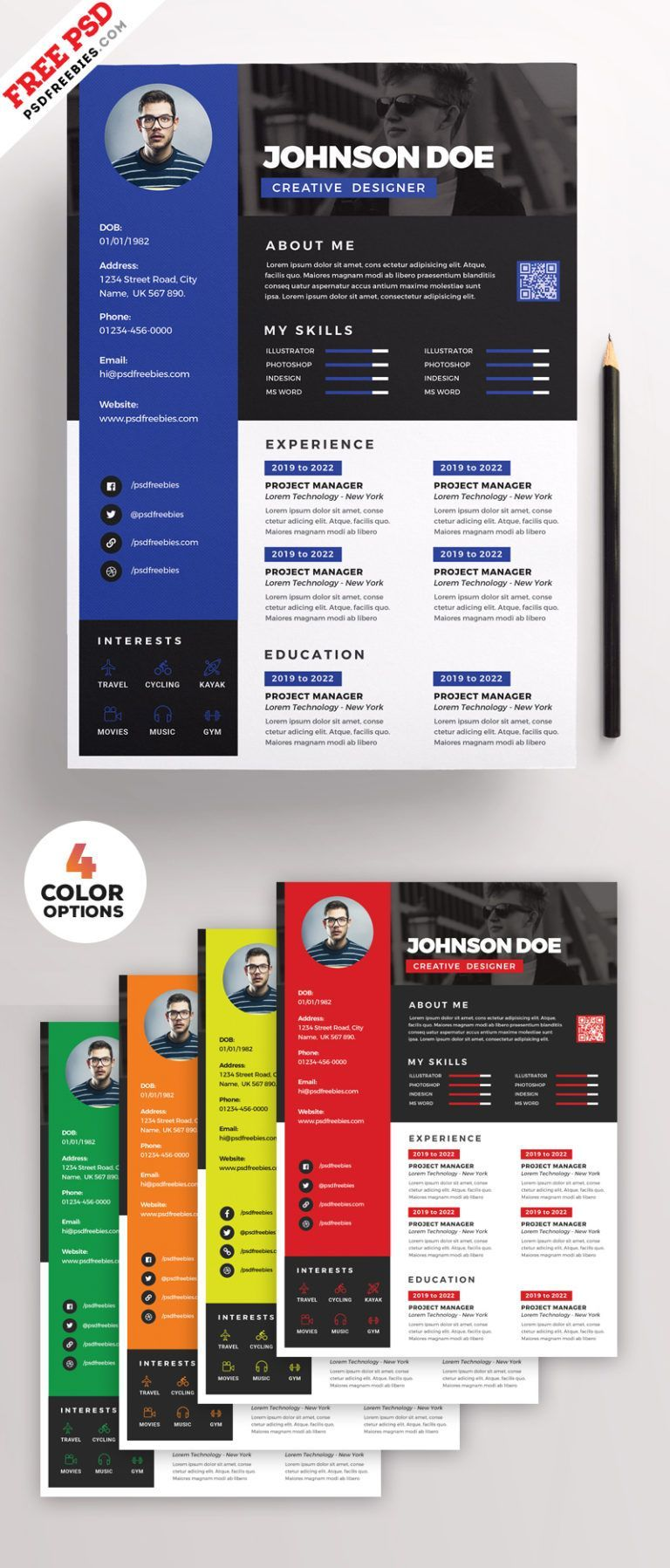 Resume design professional Awesome Resume CV Design PSD