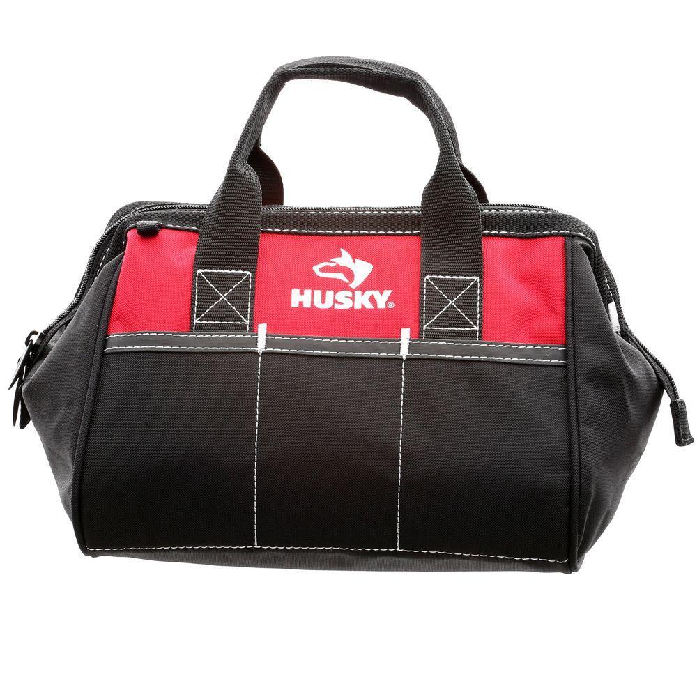Husky 12 In Tool Bag 82004n11 The Home Depot Husky Tool Bag Tool Bag Hvac Tool Bags