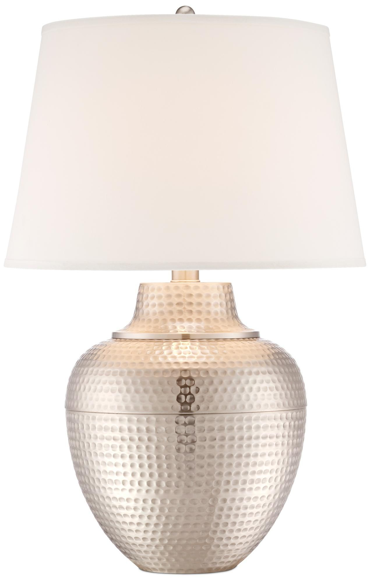 Brighton hammered pot brushed nickel table lamp style x4787 brighton hammered pot brushed nickel table lamp mozeypictures Image collections