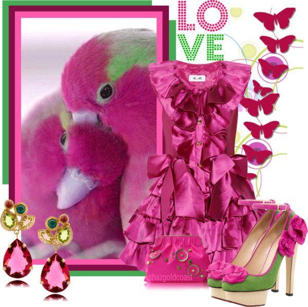 """LOVE Birds"" by shazgoldcoast ❤ liked on Polyvore"
