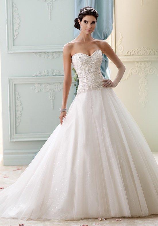 David Tutera for Mon Cheri 215273 - Velvet Wedding Dress - The Knot ...