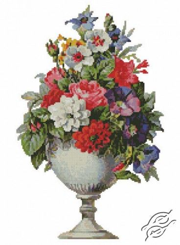 Flowers In A Vase Free Cross Stitch Pattern With Images