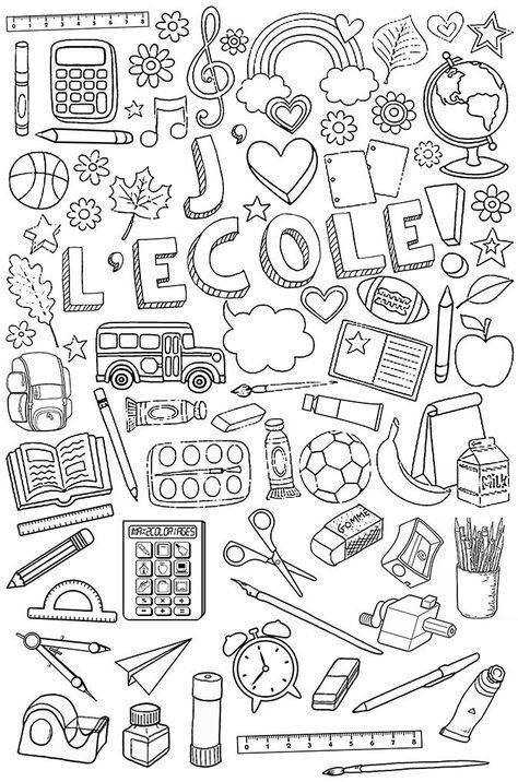 Coloriage Maitre Ecole.Affaires D Ecole A Colorier Classe Coloriage Rentree Affaires D
