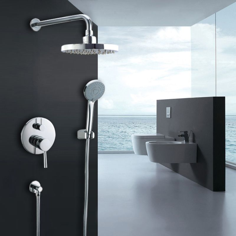 In Wall Round Shower Faucet Durable Rain Shower System Bathroom
