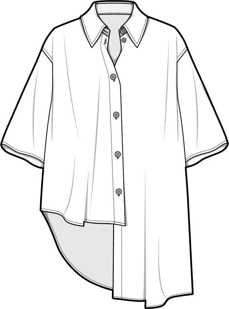 how to draw a dress shirt